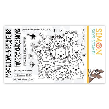 Simon Says Clear Stamps PEACE LOVE AND BELLY RUBS sss102041 Cheer And Joy