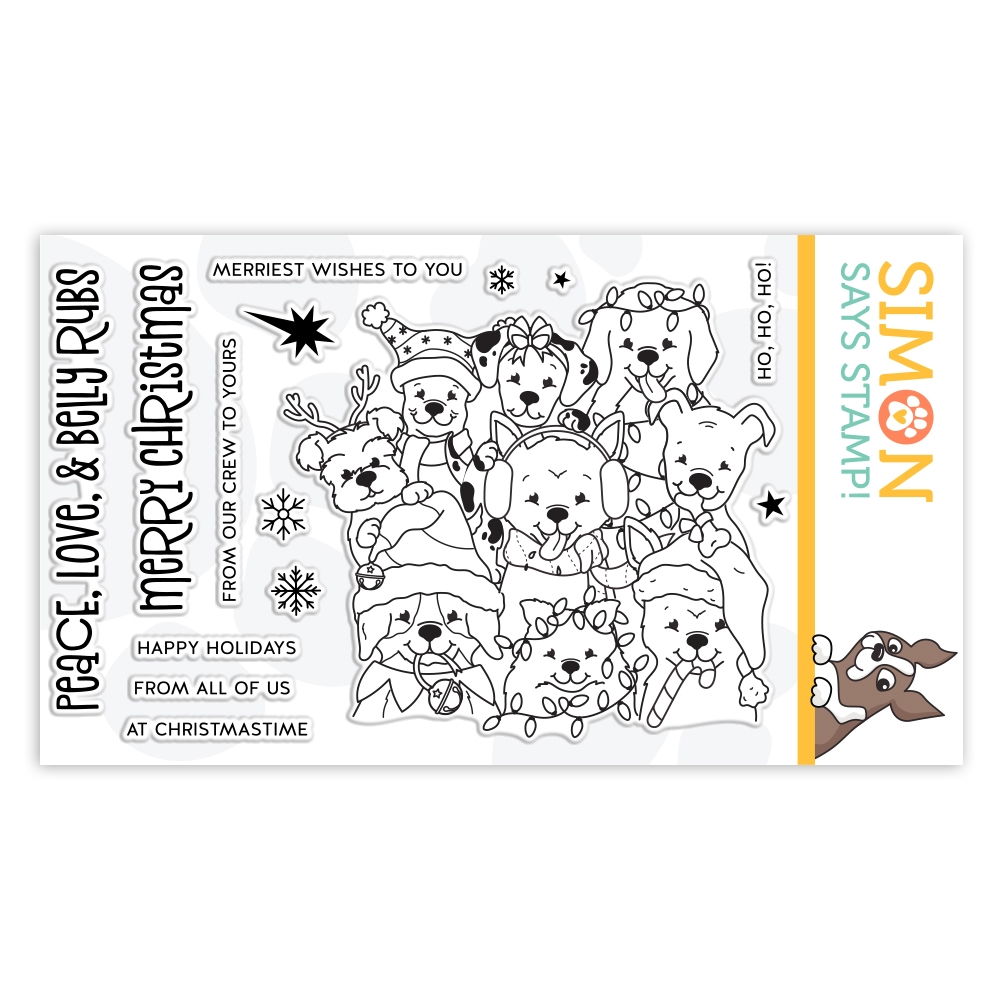 Simon Says Clear Stamps PEACE LOVE AND BELLY RUBS sss102041 Cheer And Joy zoom image