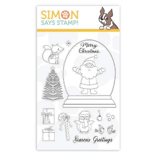 Simon Says Clear Stamps CHRISTMAS GLOBE sss102073 Cheer And Joy Preview Image