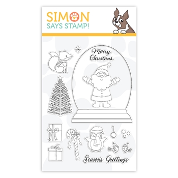 Simon Says Clear Stamps CHRISTMAS GLOBE sss102073 Cheer And Joy
