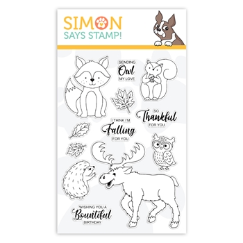 Simon Says Clear Stamps Fall Critters FALLING FOR YOU sss102074 *