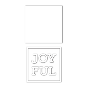 Simon Says Stamp JOYFUL FRAME Wafer Dies sssd112078 Cheer And Joy