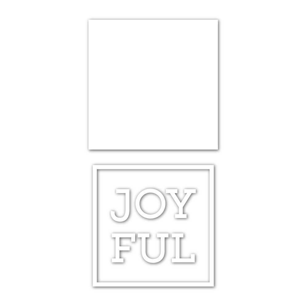 Simon Says Stamp JOYFUL FRAME Wafer Dies sssd112078 Cheer And Joy zoom image