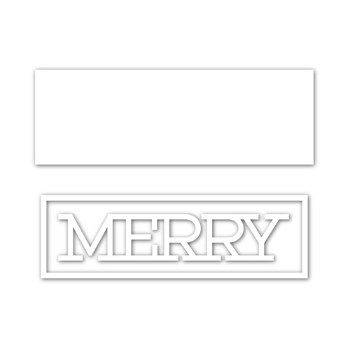 Simon Says Stamp MERRY FRAME Wafer Dies sssd112077 Cheer And Joy Preview Image