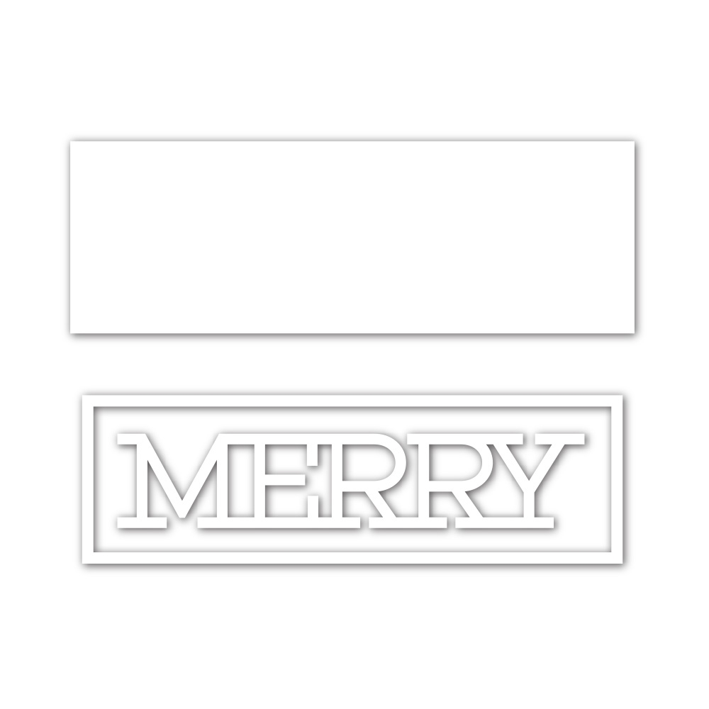 Simon Says Stamp MERRY FRAME Wafer Dies sssd112077 Cheer And Joy zoom image