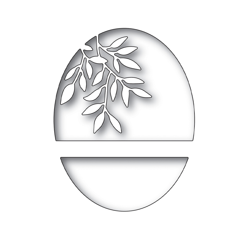 Simon's Exclusive Leaf Branch Oval Die