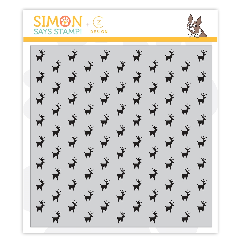CZ Design Cling Stamps REINDEER BACKGROUND cz44 Cheer And Joy zoom image