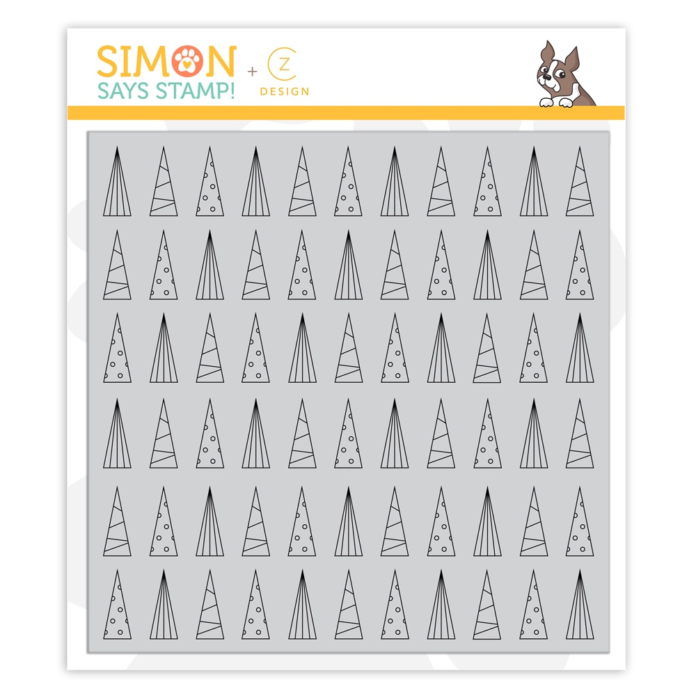 RESERVE CZ Design Cling Stamps CLEAN LINE TREES cz41 Cheer And Joy zoom image