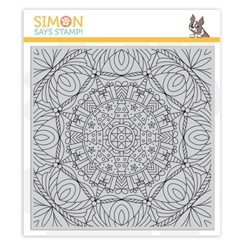 Simon Says Cling Rubber Stamp CHRISTMAS KALEIDOSCOPE BACKGROUND sss102038 Cheer And Joy *