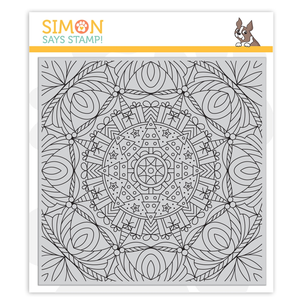 Simon Says Cling Rubber Stamp CHRISTMAS KALEIDOSCOPE BACKGROUND sss102038 Cheer And Joy zoom image