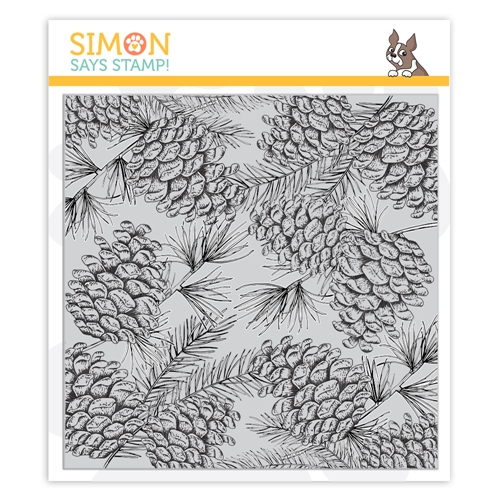 Simon Says Cling Rubber Stamp PINECONE BACKGROUND sss102094 Cheer And Joy Preview Image