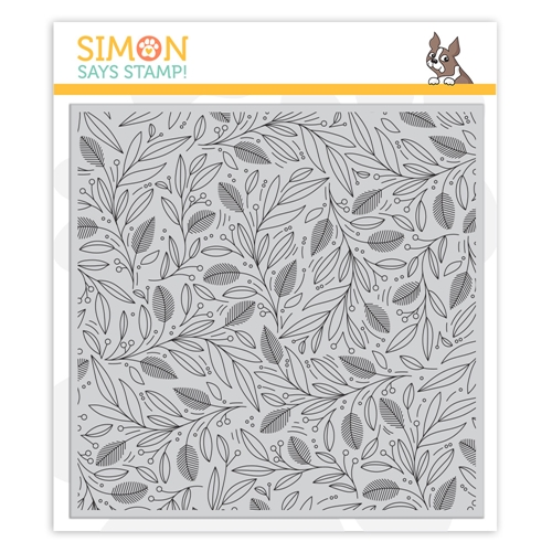 Simon Says Cling Rubber Stamp LEAVES AND BERRIES BACKGROUND sss102039 Cheer And Joy Preview Image