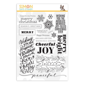 Simon Says Clear Stamps HOLIDAY GREETINGS MIX 1 sss202037 Cheer And Joy