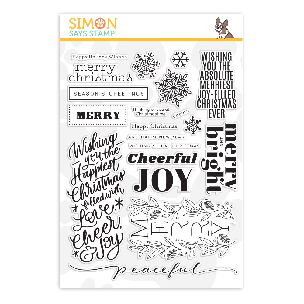 Simon Says Clear Stamps HOLIDAY GREETINGS MIX 1 sss202037 Cheer And Joy zoom image