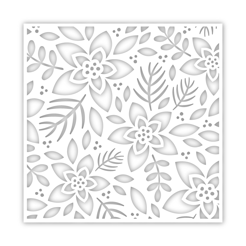 Simon Says Stamp Stencil WINTER FLORAL ssst121459 Cheer And Joy zoom image