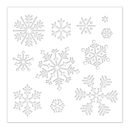 Simon Says Stamp Stencil SNOWFLAKES ssst121457 Cheer And Joy Preview Image