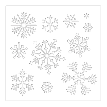 Simon Says Stamp Stencil SNOWFLAKES ssst121457 Cheer And Joy