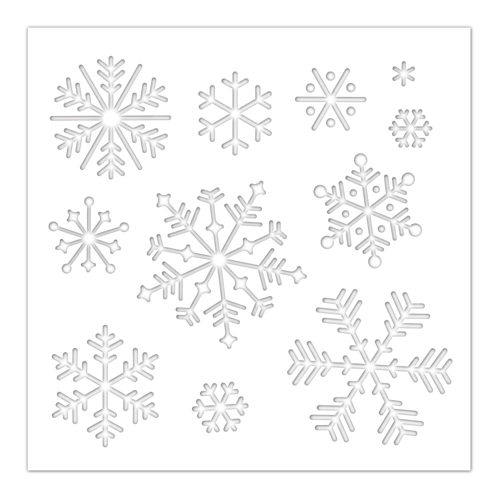 Simon Says Stamp Stencil SNOWFLAKES ssst121457 Cheer And Joy zoom image