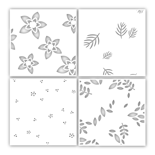 Simon Says Stamp Stencil WINTER FLORAL LAYERING SET ssst121458 Cheer And Joy Preview Image