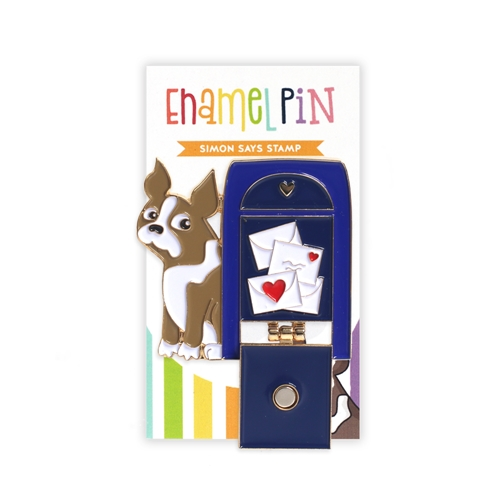Simon Says Stamp MAILBOX SIMON Enamel Pin SSSpin15 Cheer And Joy Preview Image