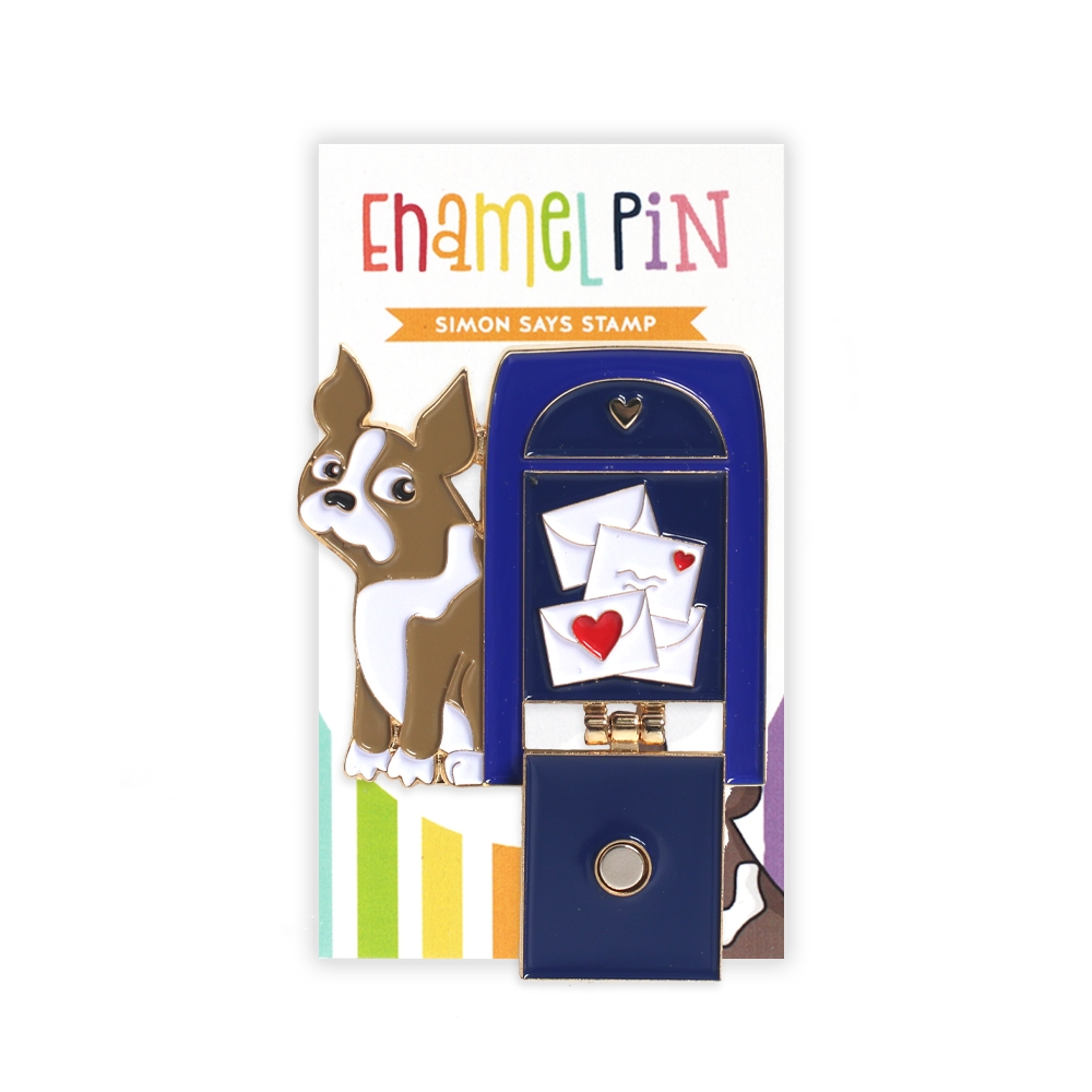 Simon Says Stamp MAILBOX SIMON Enamel Pin SSSpin15 Cheer And Joy zoom image