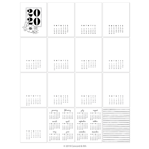 Concord & 9th 2020 CALENDAR PRE-PRINTED 10708* Preview Image
