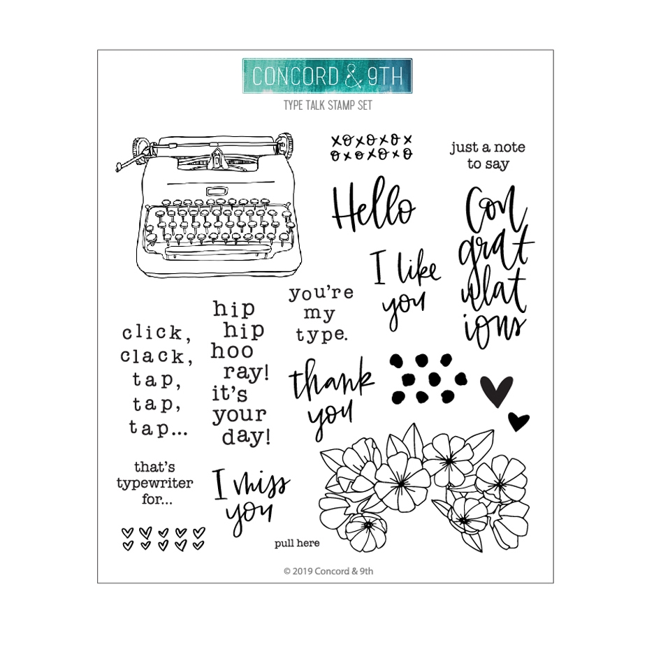 Concord & 9th TYPE TALK Clear Stamp Set 10716 zoom image