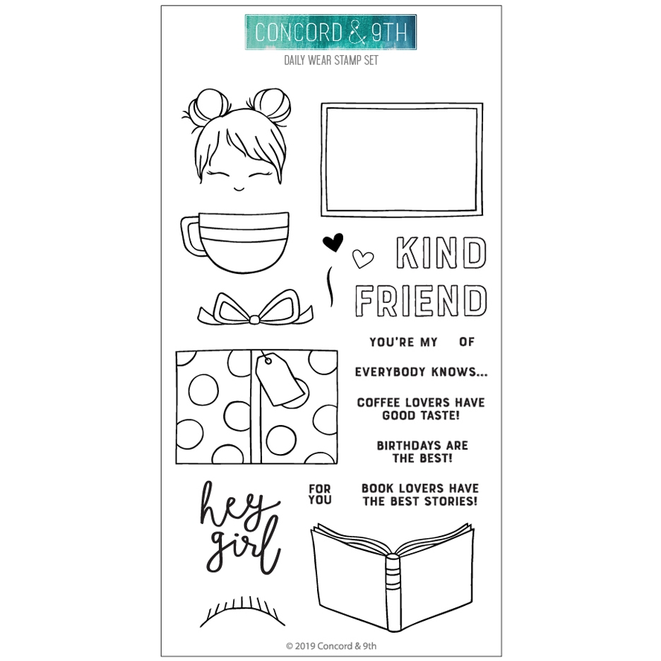 Concord & 9th DAILY WEAR Clear Stamp Set 10719* zoom image