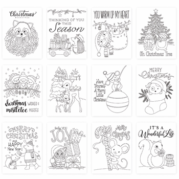 Simon Says Stamp Suzy's CHRISTMAS CRITTERS Watercolor Prints szwc19cc Cheer And Joy