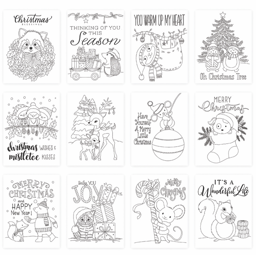 Simon Says Stamp Suzy's CHRISTMAS CRITTERS Watercolor Prints szwc19cc Cheer And Joy  zoom image