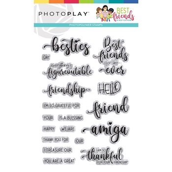 PhotoPlay BEST FRIENDS Clear Stamps bff9639
