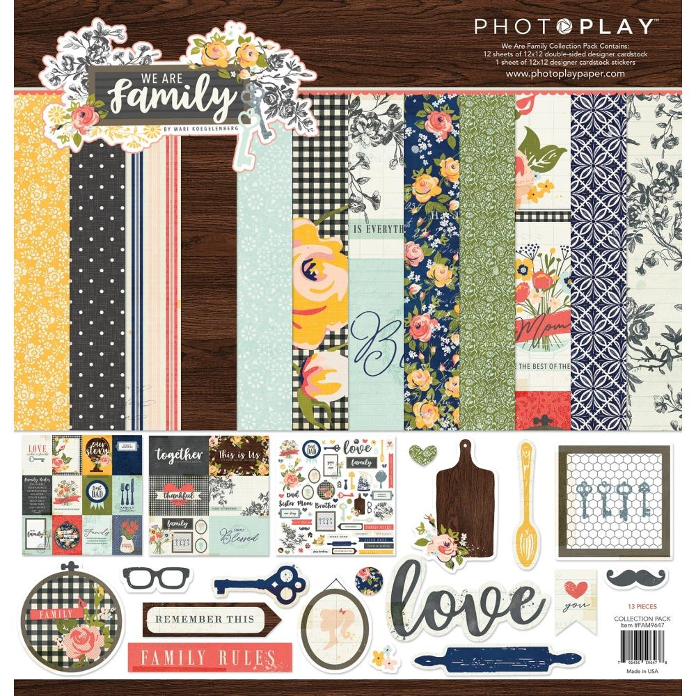 PhotoPlay WE ARE FAMILY 12 x 12 Collection Pack fam9647 zoom image