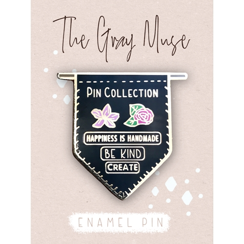 The Gray Muse PIN COLLECTION BANNER BLACK Enamel Pin tgm-o19-p75* Preview Image