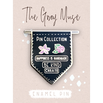 The Gray Muse PIN COLLECTION BANNER BLACK Enamel Pin tgm-o19-p75