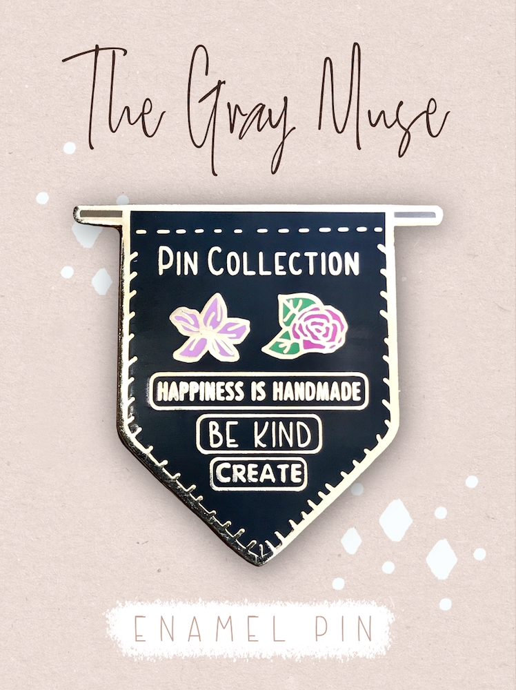 The Gray Muse PIN COLLECTION BANNER BLACK Enamel Pin tgm-o19-p75* zoom image