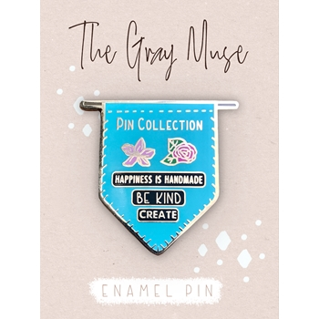 The Gray Muse PIN COLLECTION BANNER TEAL Enamel Pin tgm-o19-p76*