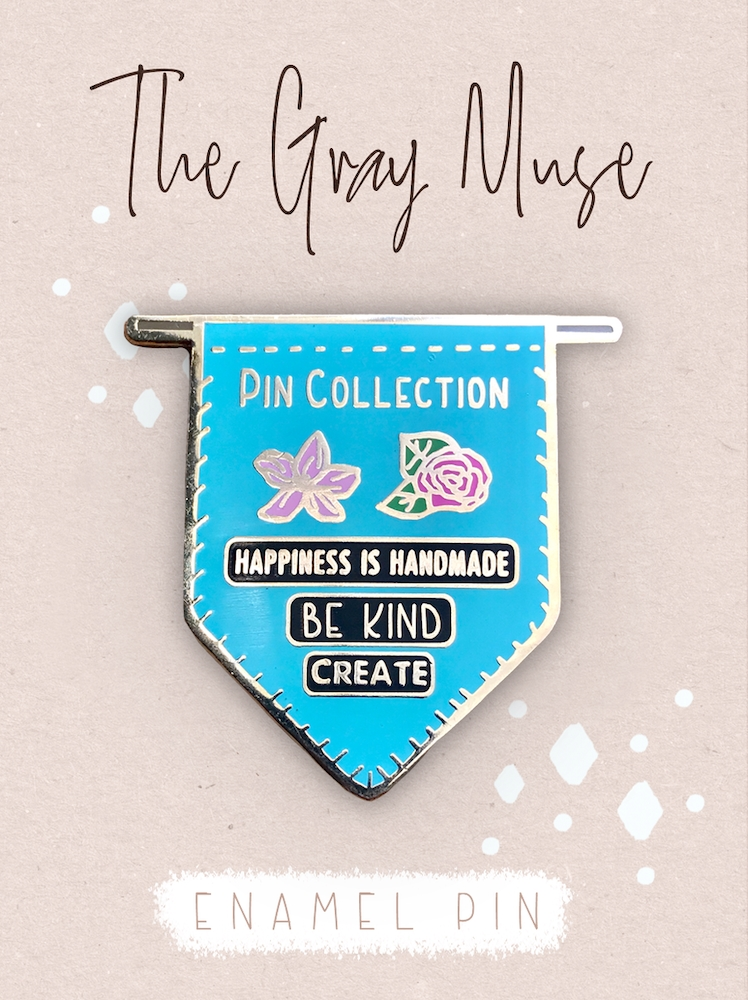 The Gray Muse PIN COLLECTION BANNER TEAL Enamel Pin tgm-o19-p76* zoom image