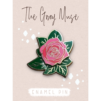 The Gray Muse SPINNING ROSE Enamel Pin tgm-o19-p77