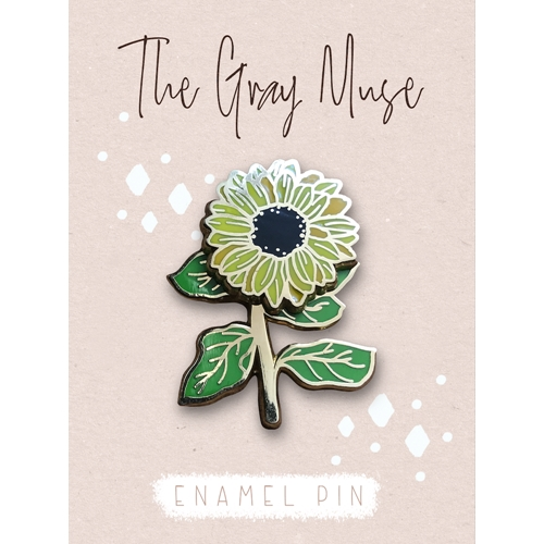 The Gray Muse SPINNING SUNFLOWER Enamel Pin tgm-o19-p78 Preview Image