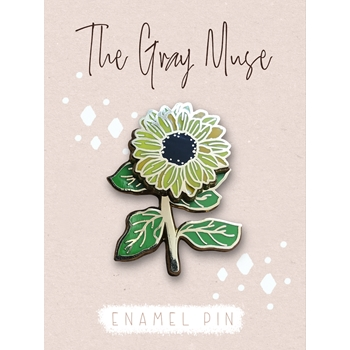 The Gray Muse SPINNING SUNFLOWER Enamel Pin tgm-o19-p78