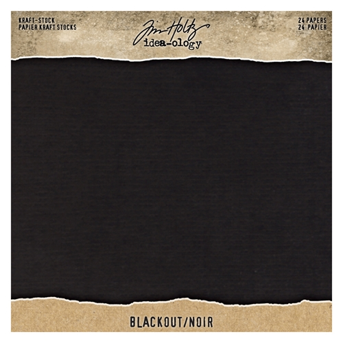 Tim Holtz Idea-ology 8 x 8 Paper Stash BLACKOUT KRAFT STOCK th94020 Preview Image