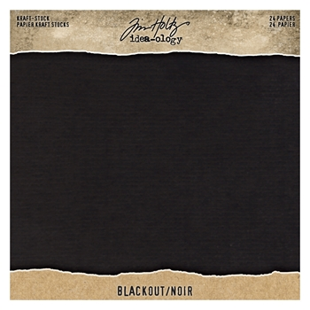 Tim Holtz Idea-ology 8 x 8 Paper Stash BLACKOUT KRAFT STOCK th94020