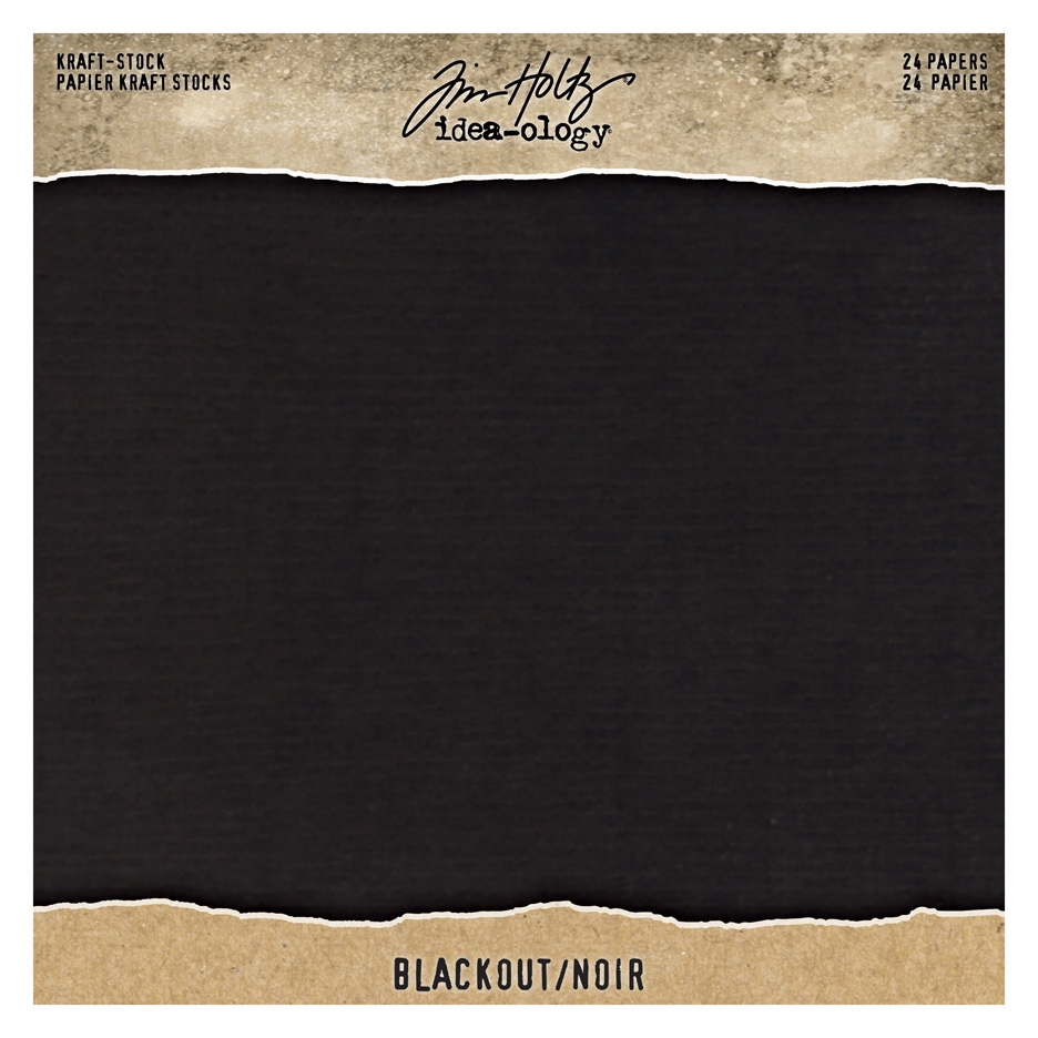 Tim Holtz Idea-ology 8 x 8 Paper Stash BLACKOUT KRAFT STOCK th94020 zoom image