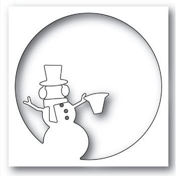Memory Box SNOWMAN CIRCLE COLLAGE Craft Dies 94330