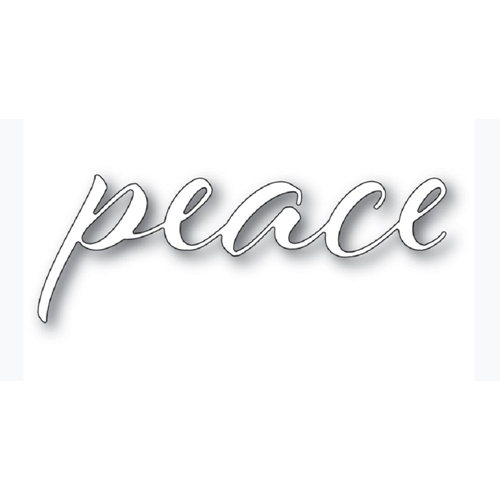 Memory Box PEACE AIRY SCRIPT Craft Die 94335 Preview Image