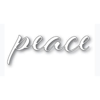 Memory Box PEACE AIRY SCRIPT Craft Die 94335