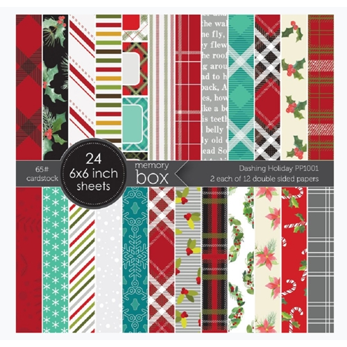 Memory Box Dashing Holiday Paper Pack