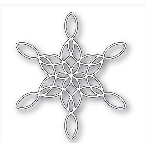 Poppy Stamps STAINED GLASS SNOWFLAKE Craft Die 2271 Preview Image