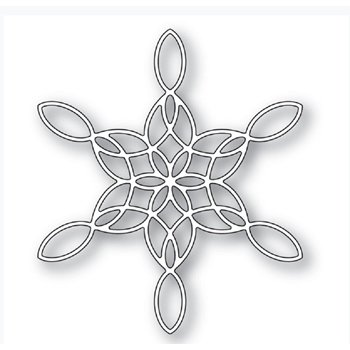 Poppy Stamps STAINED GLASS SNOWFLAKE Craft Die 2271