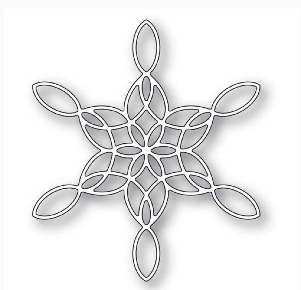 Poppy Stamps STAINED GLASS SNOWFLAKE Craft Die 2271 zoom image